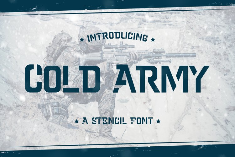 Cold Army - A Stencil Font example image 1