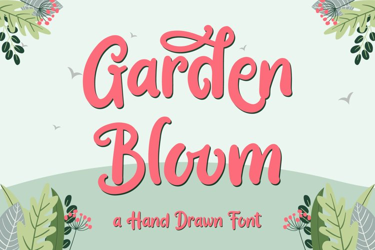 Garden Bloom - Hand Drawn Font example image 1