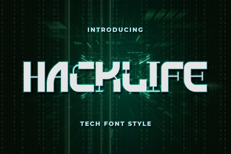 Hacklife - Tech Font Style example image 1