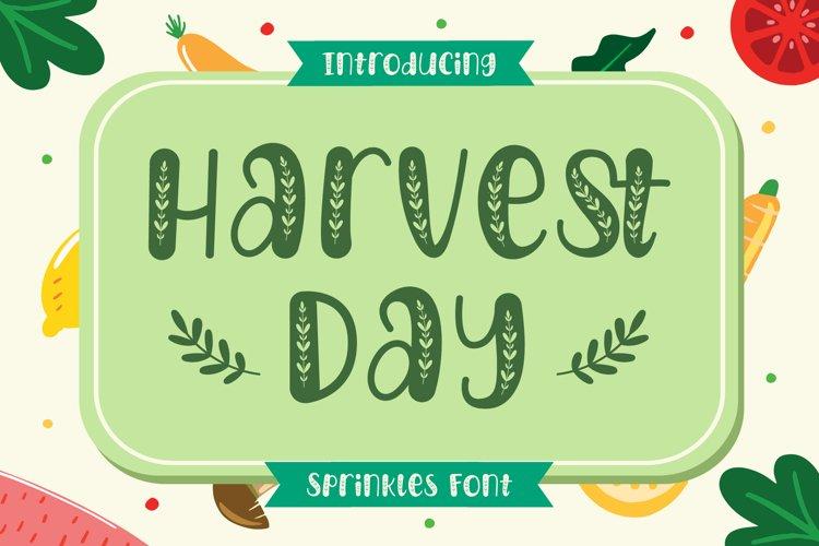 Harvest Day - Sprinkles Font example image 1