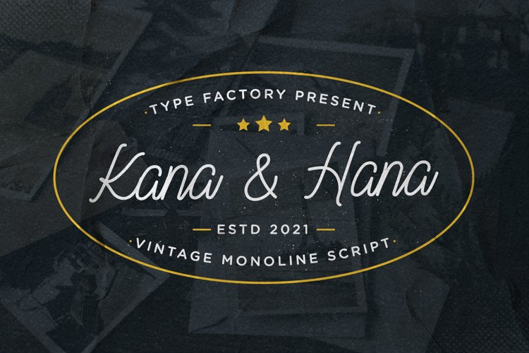Kana & Hana - Vintage Monoline Script example image 1
