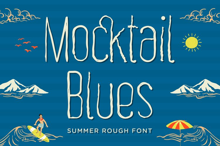Mocktail Blues - Summer Rough Font example image 1