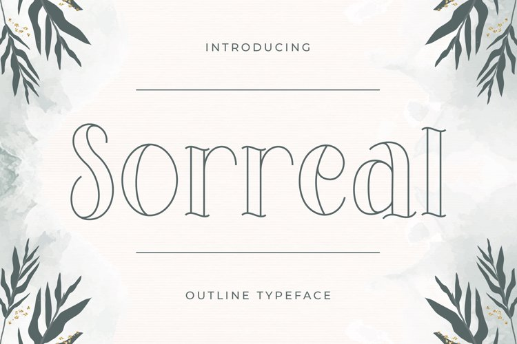 Sorreal - Outline Typeface example image 1