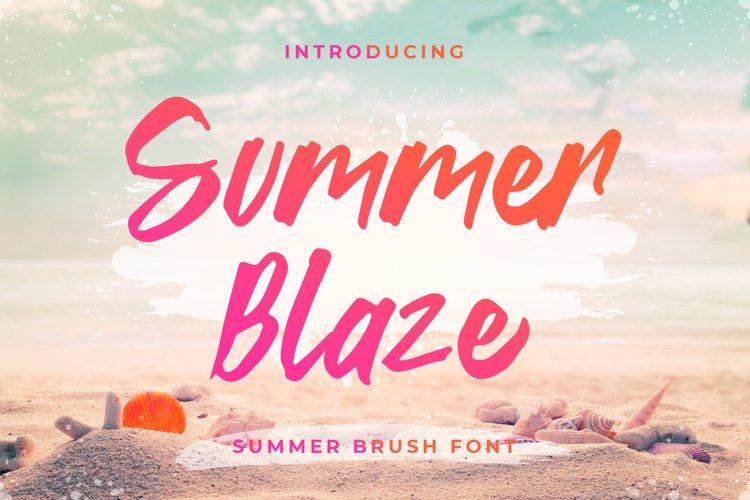 Summer Blaze - Summer Brush Font example image 1