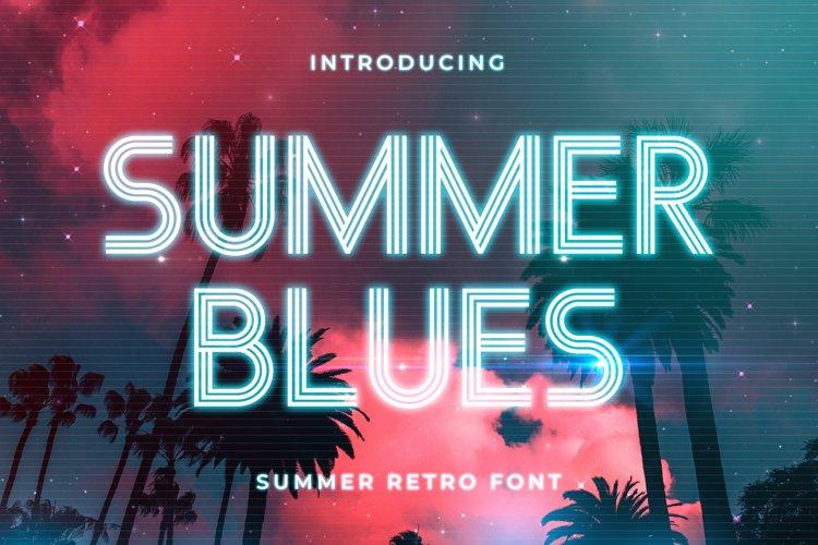 Summer Blues - Summer Retro Font example image 1