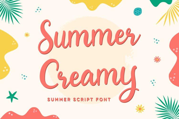 Summer Creamy - Summer Script Font example image 1