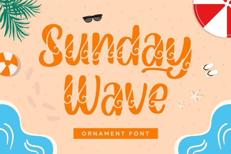 Sunday Wave - Decorative Font example image 1