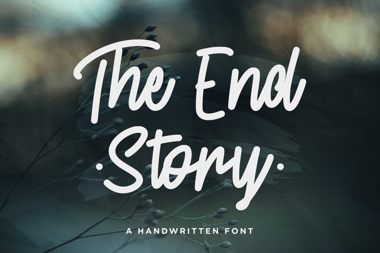The End Story - Handwritten Font example image 1