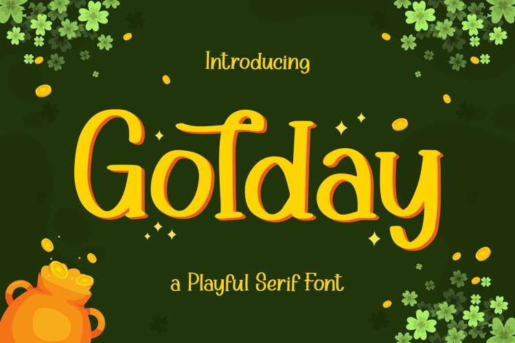 Golday - Playful Serif Font example image 1