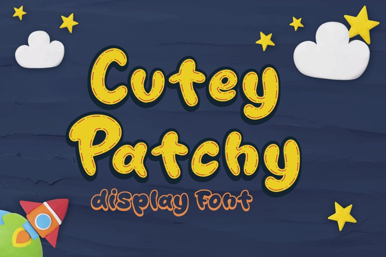 Cutey Patchy - Display Font example image 1