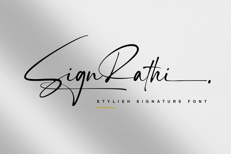 Sign Rathi - Signature Font example image 1