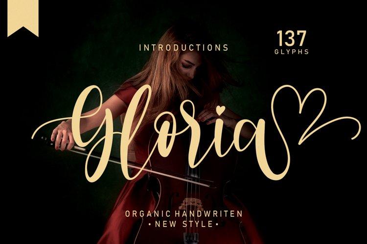 Gloria| handwritten font example image 1