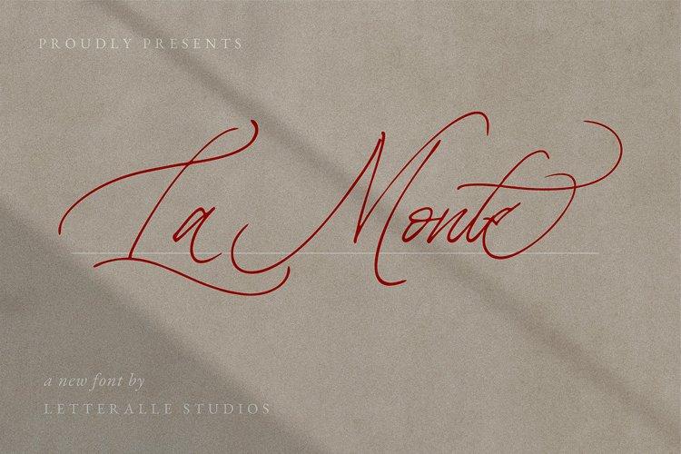 La Monte Calligraphy Font example image 1