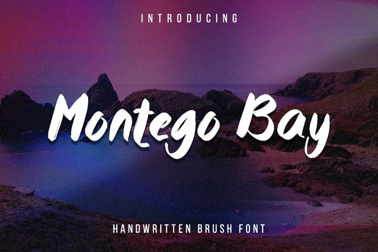 Montego Bay - a lovely paint brushed script font example image 1