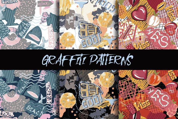 Graffiti patterns. Urban lifestyle. Vector, jpeg, png