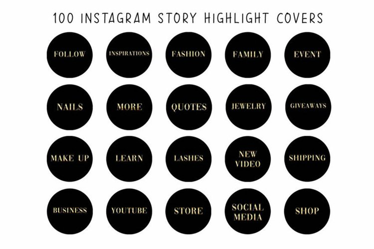 Black Gold Instagram Highlights