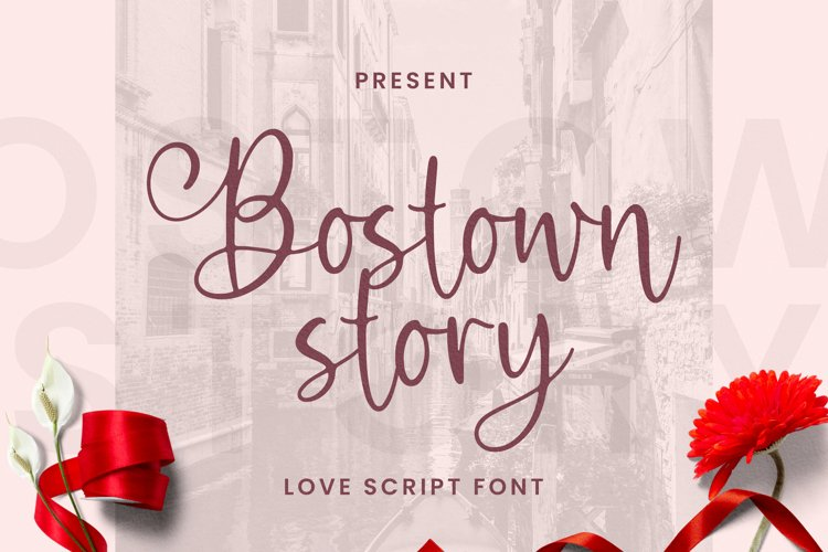 Bostown Story Font example image 1