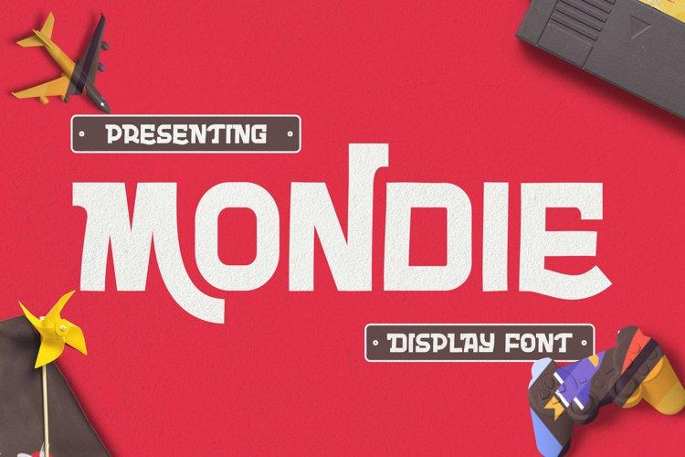 MONDIE Font example image 1