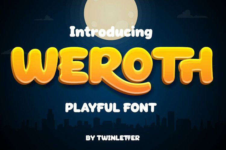 Weroth Display Playful Font example image 1
