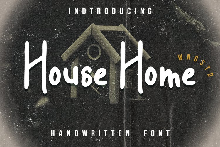 House Home - a sweet and friendly display font example image 1