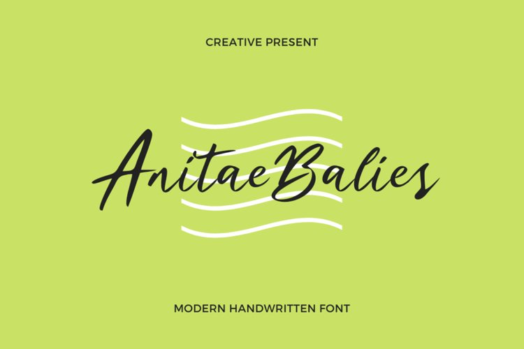 Anitae Balies Font example image 1