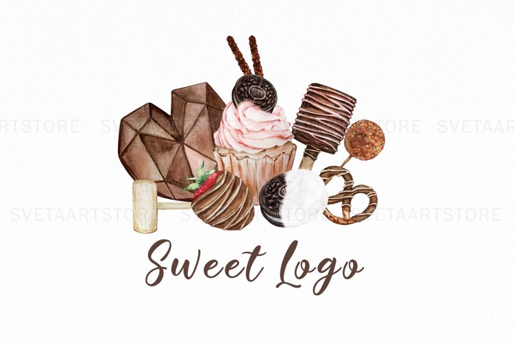 Heart Breakable chocolate Logo, Cake logo