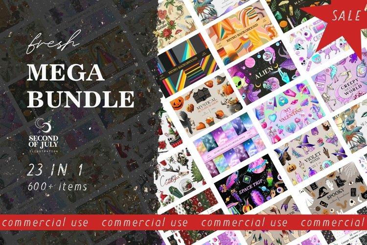 MEGA BUNDLE, Witch clipart, Magic clipart bundle