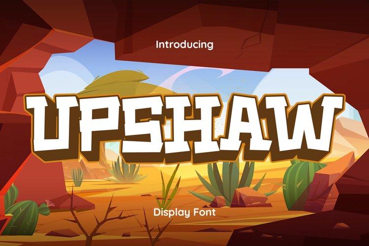 Upshaw Font example image 1