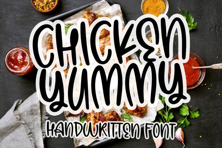 Chicken Yummy - Handwritten Font example image 1