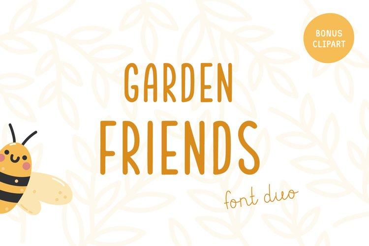 Garden friends   Font duo example image 1