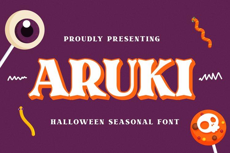 Aruki Font example image 1