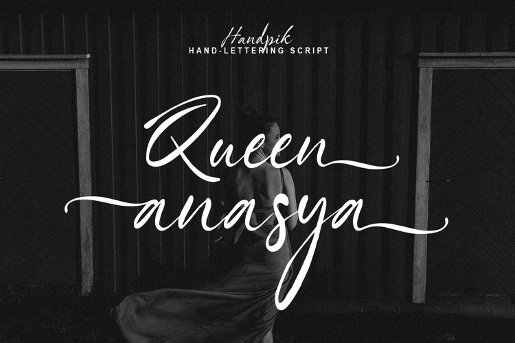 Anasya - Handwritten font example image 1