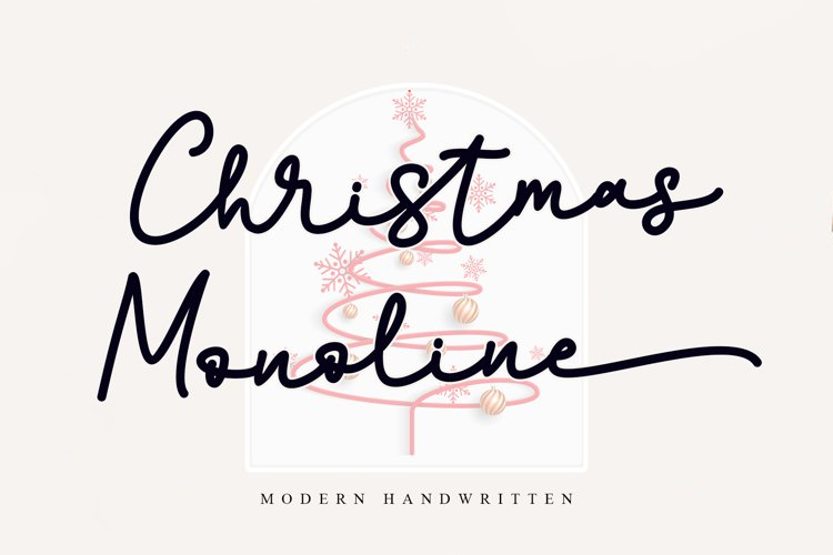 Christmas Monoline example image 1