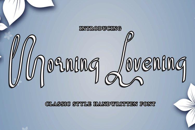 Morning Lovening example image 1