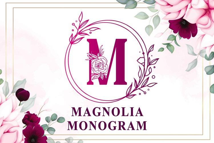 Magnolia Monogram example image 1