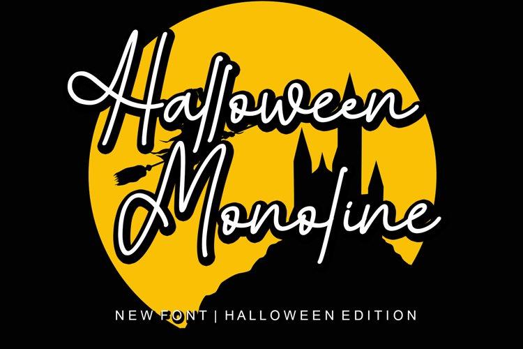 Halloween Monoline example image 1