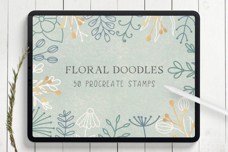 Floral Doodles Procreate Stamp Brushes