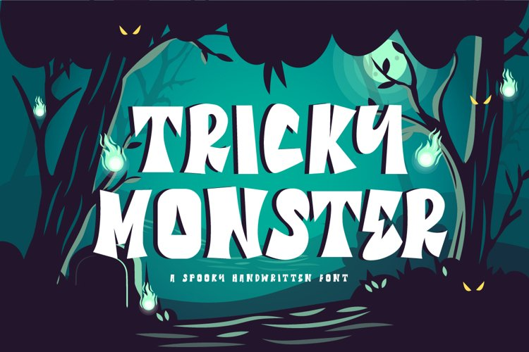 Tricky Monster - a Halloween Font example image 1