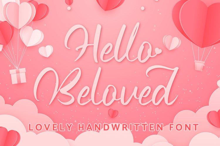 Hello Beloved - Lovely Handwritten Font example image 1