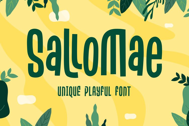 Sallomae - Playful Font example image 1