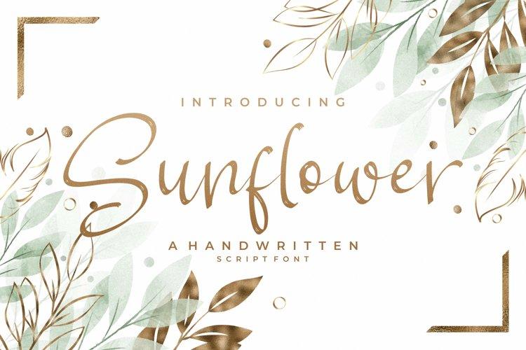 Sunflower - Handwritten Script Font example image 1