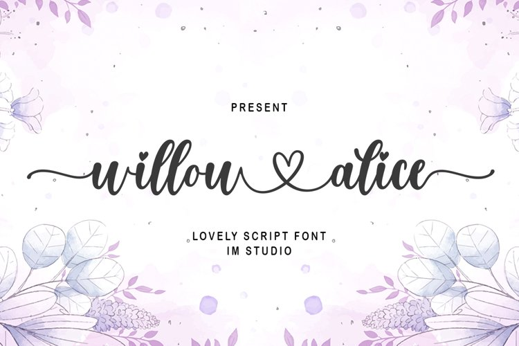 willow alice - A Lovely Font example image 1