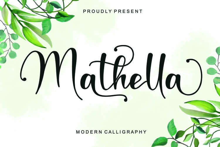 Mathella - Modern Calligraphy example image 1