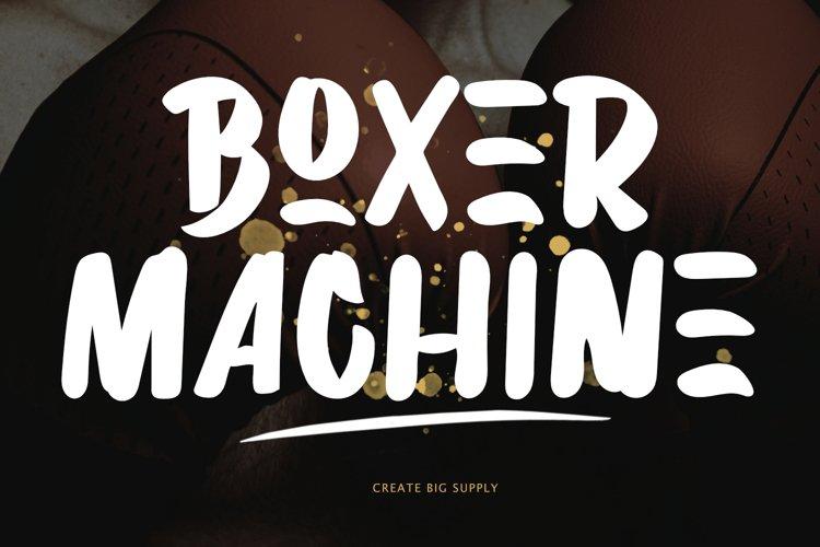 Boxer Machine Brush Font
