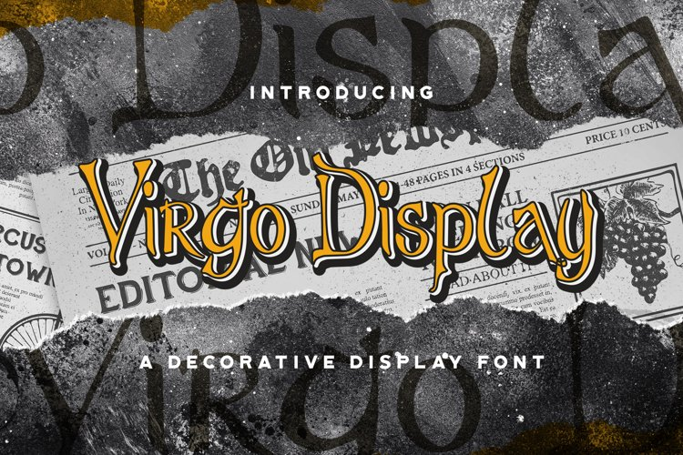 Virgo Display - Haunted Display Font example image 1