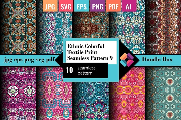 Ethnic Colorful Textile Print Seamless Pattern vol.9