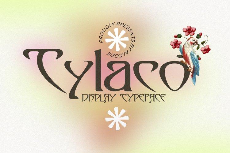 Tylaco | DISPLAY TYPEFACE example image 1