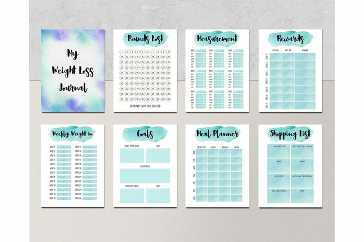 PRINTABLE Weight Loss Journal and Tracker Fitness Progress