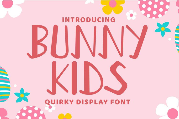Bunny Kids - Cute Display Font example image 1