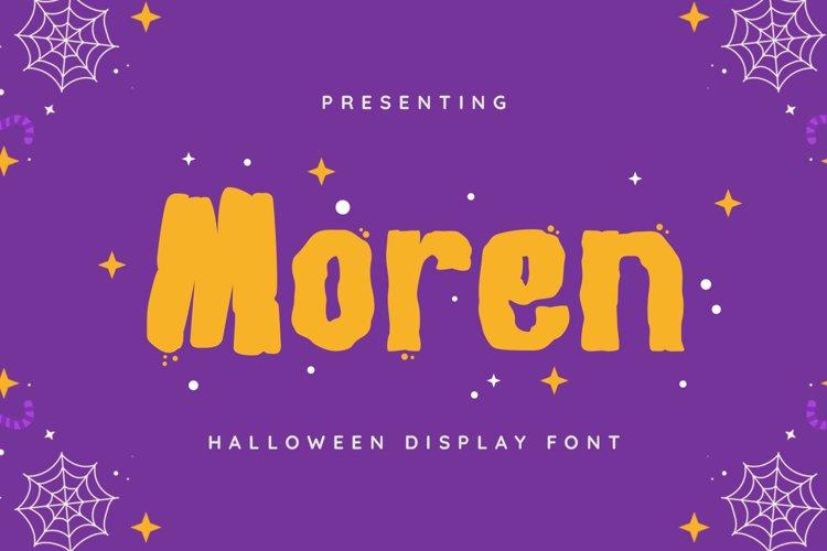 Moren Font example image 1